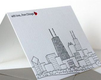 chicago skyline | letterpress greeting card