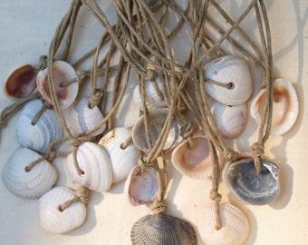 Random Simple Shell on Hemp Necklace