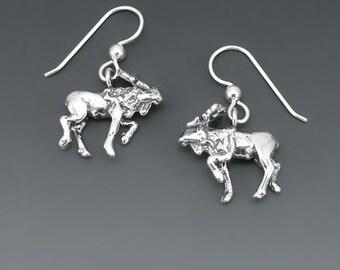 Moose Sterling Silver Earrings