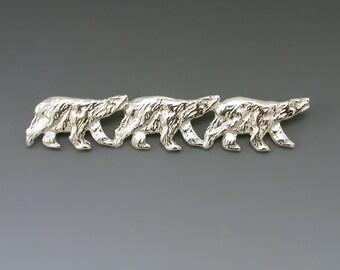 Polar Bear Sterling Silver Pin/Brooch