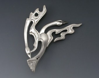 Trumpeter Swan Sterling Silver Spirit Pin/Brooch