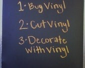 1 Sheet - 12x24 Chalkboard adhesive VINYL for your CRICUT Expression - crafts - scrapbooking, etc.