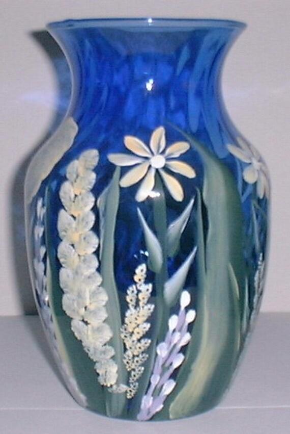 Cobalt Blue Spring Vase