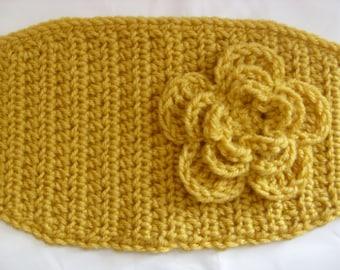 Crochet Head Wrap/ Ear Warmer/ Mustard