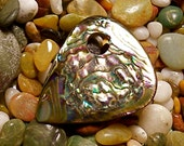 Handmade natural Abalone guitar pick or pendant. Private Collection. Guitar Pick/Guitar Picks