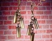 ANNIE OAKLEY - 22 Bullet Shell Cartridge Casings Cascade Earrings