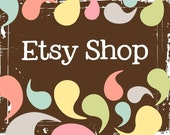 Etsy Banner Avatar Shop Set - Etsy Shop Premade Design Package - Abstract Drops of Color Design