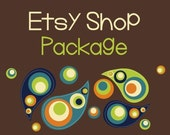 Etsy Banner Avatar Shop Set - Etsy Premade Design Package - Paisley Boho Design
