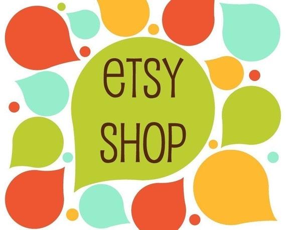 Premade Etsy Banner Avatar Shop Set - Etsy Store Design Package - Drops of Color Design