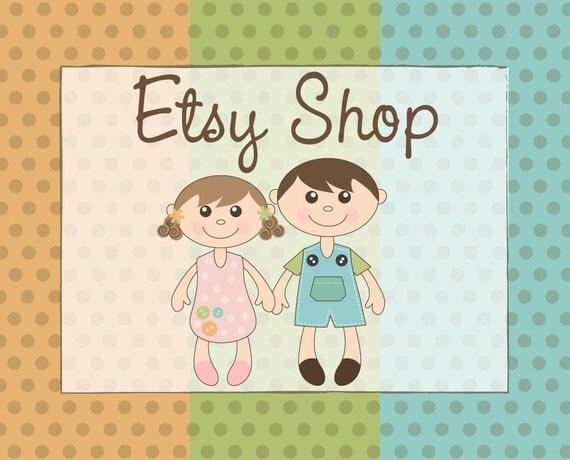 Premade Etsy Shop Banner Avatar - Design Package - Little Kids Boutique Design
