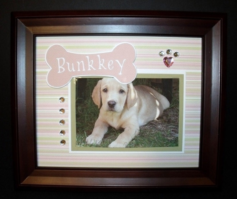 Personalized Dog Picture Frame 8x10 Dog By Memoreasykeepsakes