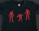 Zombies Attack Toddler Black Tee