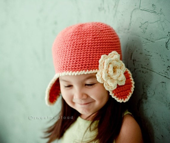 Anne Morrow Lindbergh (Little Aviator Hat) - sizes from Newborn to 5T
