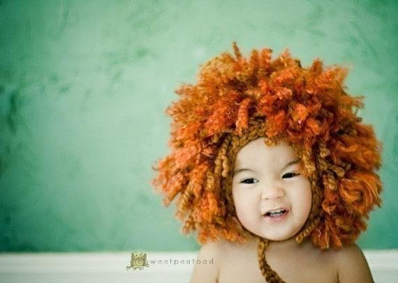 Lion Hat, Lion Headdress, Lion Hoodie, Photo Prop