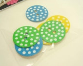 Hand Painted Chipboard Buttons-Great Scrapbooking Embellishments