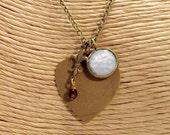 Vintage German Glass Charm Necklace