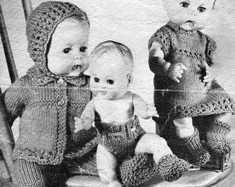 Vintage Knitting pattern for Dolls/reborn outfits Scotch wool shop 973 PDF