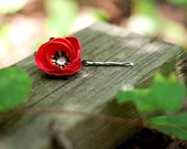 poppy hair pin - paper flower accessories for everyday or special event