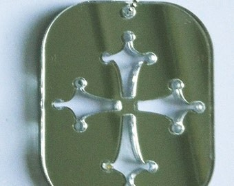 Positive Vibrations  Necklace - 4 crown cross