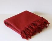 Soft Burgundy Turkish Bath Towel... NEW SPECIAL Peshtemal Burgundy