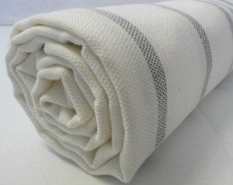 Turkish Bath Towel...PESHTEMAL(105) WHITE-GRAY