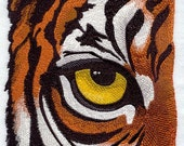 EYE Of THE TIGER- Machine Embroidery Quilt Block (AzEB)