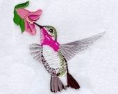 MALE CALLIOPE HUMMINGBIRD - Machine Embroidery Quilt Block (AzEB)