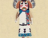 BUTTERFLY KACHINA DOLL - Machine Embroidery Quilt Block (AzEB)