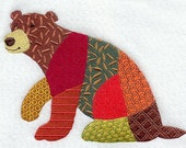 PATCHWORK BEAR- Machine Embroidered Quilt Blocks(AZEB)