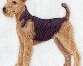 AIREDALE DOG - Machine Embroidered Quilt Blocks (AzEB)