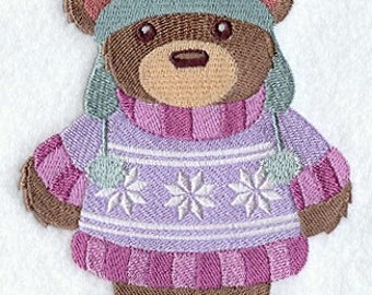 BEARLY WINTERTIME (large) - Machine Embroidered Quilt Blocks (AzEB)