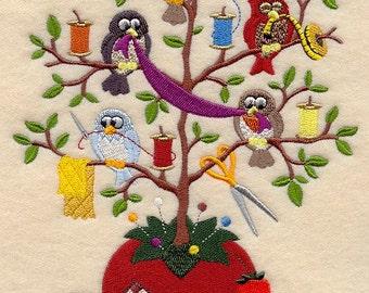 SEW SWEET TWEET - - Machine Embroidered Quilt Block (AzEB)