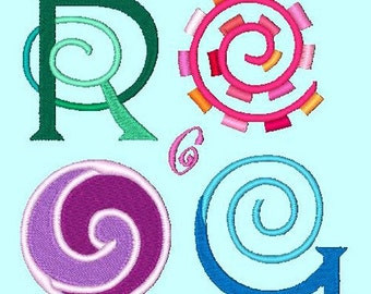SPRINGTIME  - 134 Machine Embroidery Font Designs Instant Download 4x4 5x7 6x10 hoop (AzEB)