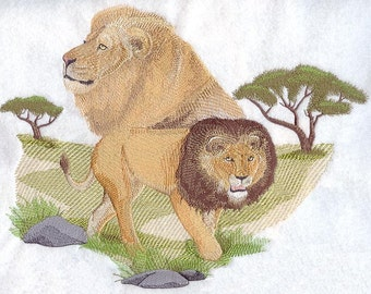 SPIRIT Of THE LION - Machine Embroidery Quilt Block (AzEB)