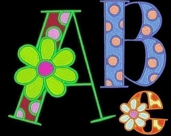 GROOVY - 106 Machine Embroidery Font Designs Instant Download 4x4 5x7 6x10 hoop (AzEB)