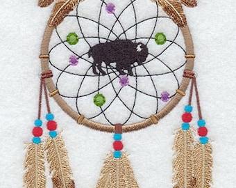 BUFFALO DREAM Catcher 2 - Machine Embroidered Quilt Blocks (AZEB)