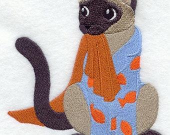 SIAMESE in PAJAMAS - Machine Embroidered Quilt Blocks (AZEB)
