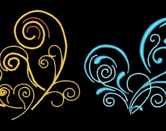 COLORLINE HEARTS - 18 Machine Embroidery Designs Instant Download 4x4 5x7 hoop (AzEB)