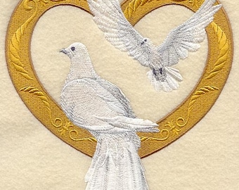 VICTORIAN DOVES - Machine Embroidery Quilt Blocks (Azeb)