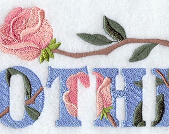 MOTHER WITH ROSES - Machine Embroidery Quilt Block (AzEB)