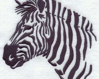 SAFARI ZEBRA - Machine Embroidery Quilt Block (AzEB)