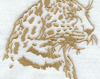 SAFARI JAGUAR - Machine Embroidery Quilt Block (AzEB)
