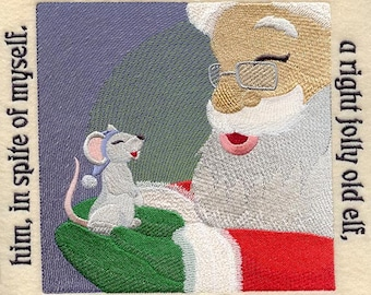 The NIGHT BEFORE CHRISTMAS Storybook - Page 23- Machine Embroidered Quilt Block (AzEB)