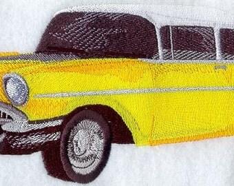 57 CHEVY- Machine Embroidered Quilt Block (AzEB)