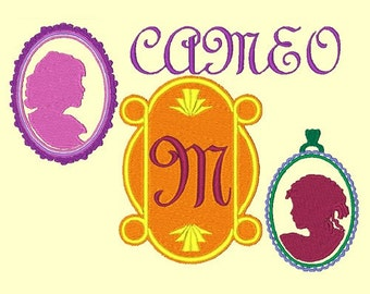 CAMEO   - 121 Machine Embroidery Font Designs Instant Download 4x4 5x7 6x10 hoop (AzEB)