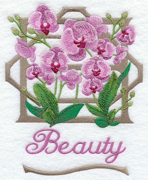 VICTORIAN FLOWERS - Beauty - Machine Embroidered Quilt Blocks (AZEB)