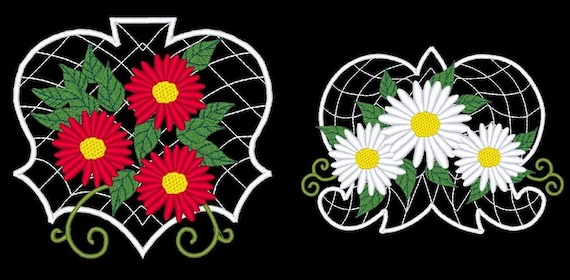 DAISIES  - 20 Machine Embroidery Designs Instant Download 4x4 5x7 hoop (AzEB)