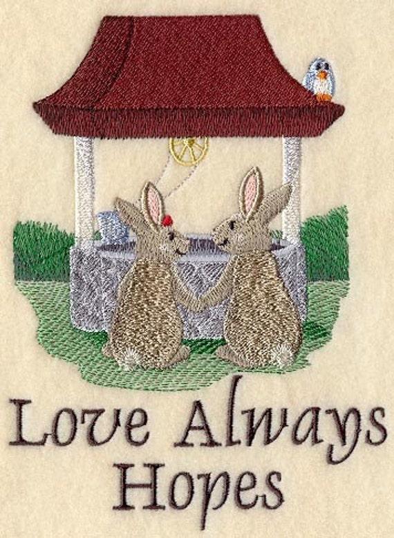 LOVE IS - MACHINE EMBROIDERY QUILT BLOCKS (AZEB)