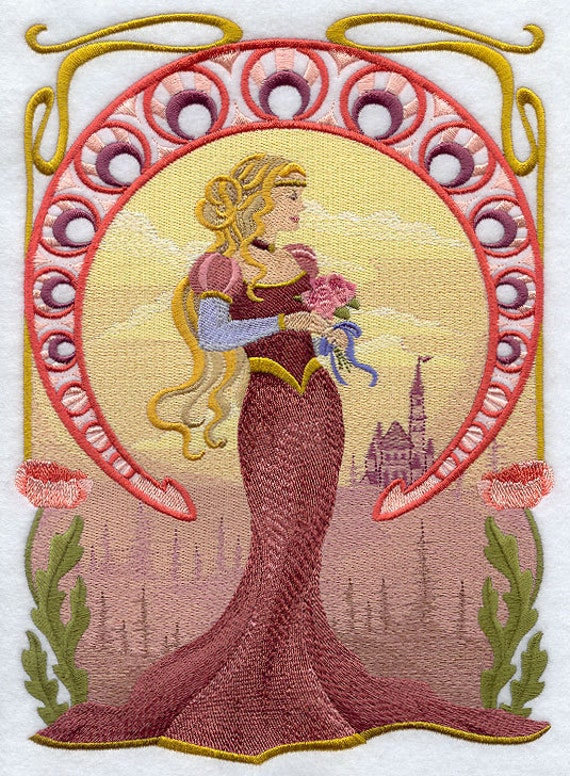 FAIRY TALE PRINCESS Collage - Machine Embroidered Quilt Blocks (AzEB)