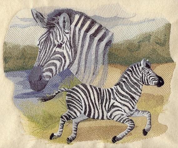 Spirit of the zebra machine embroidery quilt blocks azeb